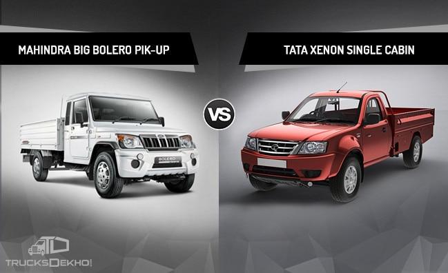 Compare Mahindra Big Bolero Pik-up and Tata Xenon Single Cabin