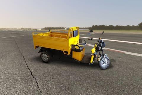 SN Solar Energy Battery Operated E Rickshaw Loader
